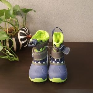 Thermolite Toddler Snow boots Sz 5 Blue & Green